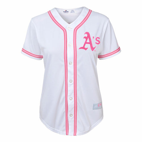 Coco Crisp Oakland Athletics MLB Majestic Girl's White Glitter Fashion Jersey