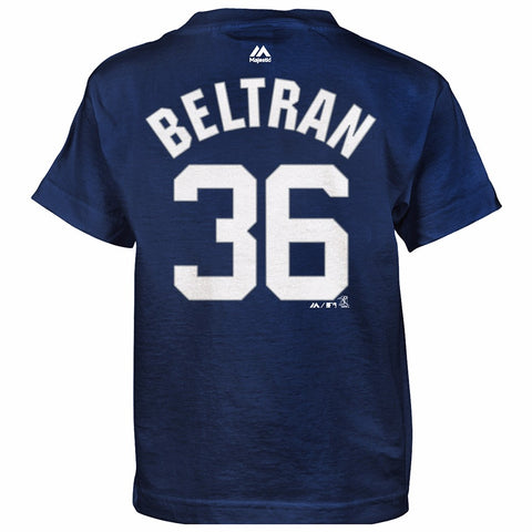 Carlos Beltran New York Yankees MLB Majestic Boy's Navy Blue Player Jersey Shirt