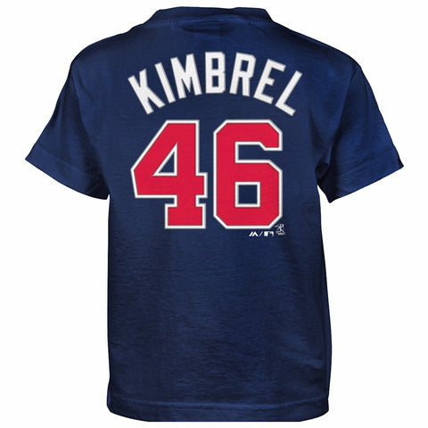 Craig Kimbrel Atlanta Braves MLB Majestic Boy's Navy Blue Player Jersey T-Shirt