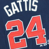 Evan Gattis Atlanta Braves MLB Majestic Boy's Navy Blue Player Jersey T-Shirt