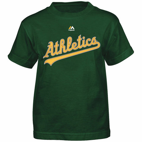 Coco Crisp Oakland Athletics MLB Majestic Boy's Green Player Jersey T-Shirt