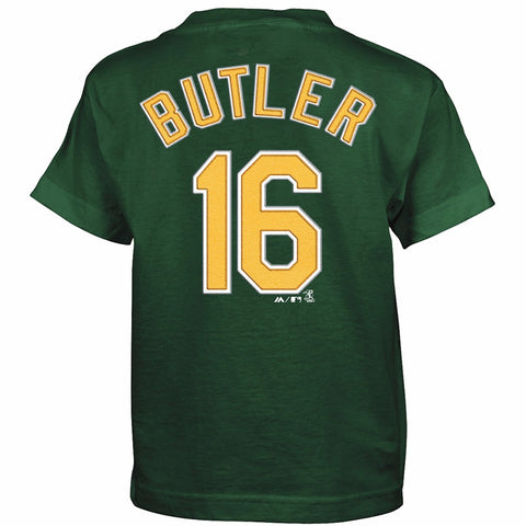 Billy Butler Oakland Athletics MLB Majestic Boy's Green Player Jersey T-Shirt