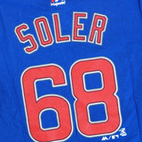 Jorge Soler Chicago Cubs MLB Majestic Boy's Blue Player Name & Num Jersey Shirt