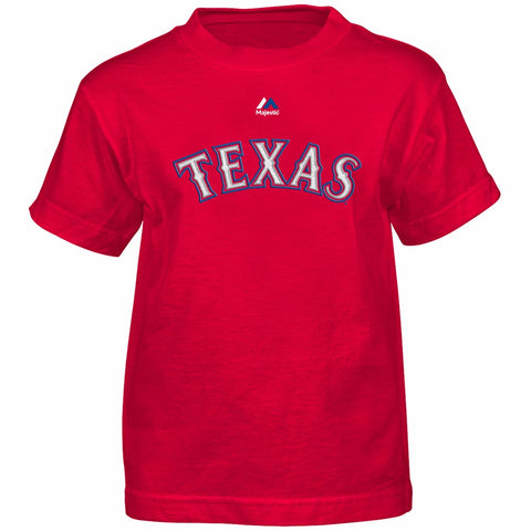 Prince Fielder Texas Rangers MLB Majestic Boy's Red Player Jersey T-Shirt