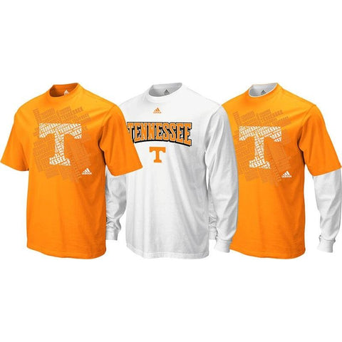 Tennessee Volunteers NCAA Adidas Longsleeve & Shortsleeve T-Shirt Combo Pack