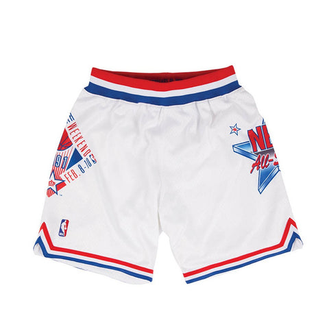 1991 NBA All Star East Authentic Mitchell & Ness Throwback White Shorts