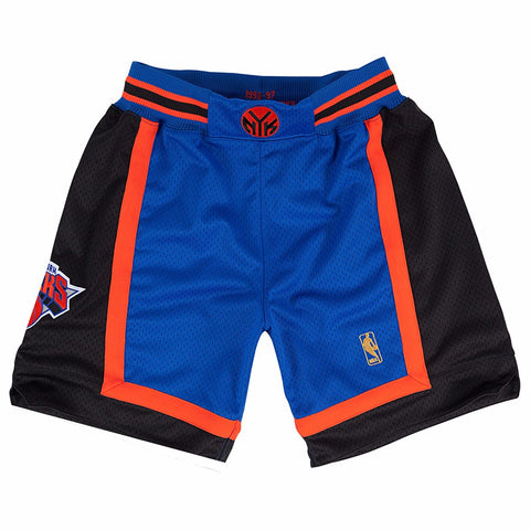 New York Knicks NBA Mitchell & Ness Blue 1996-97 Authentic Throwback Away Shorts