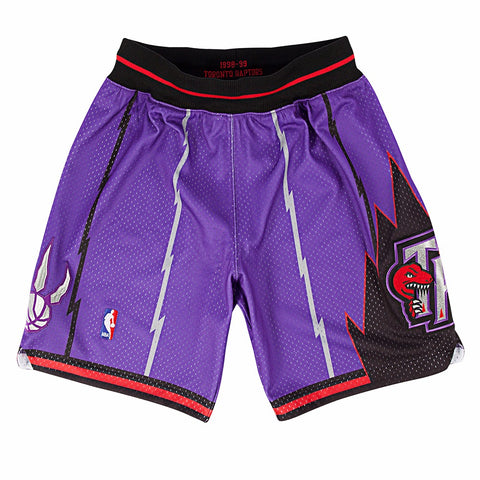 Toronto Raptors NBA Mitchell & Ness Purple 1998-99 Throwback Away Shorts