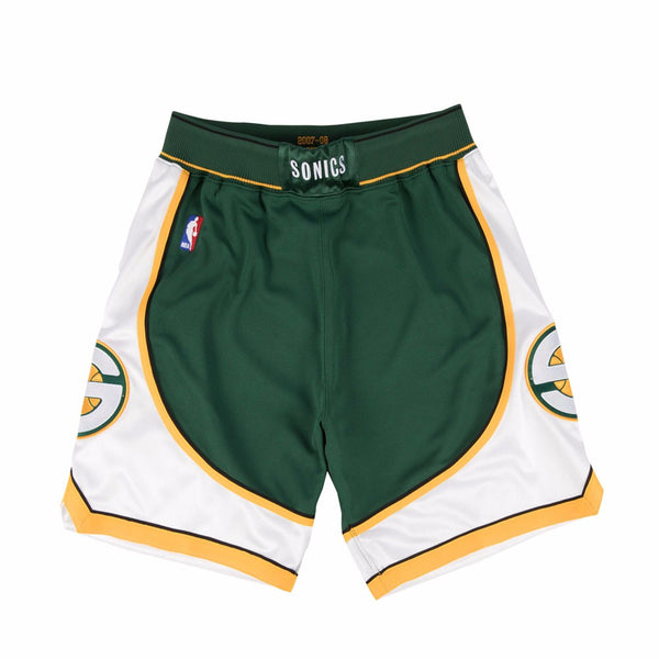 Seattle Supersonics 2007-08 Mitchell & Ness Authentic Green HWC Shorts Men's