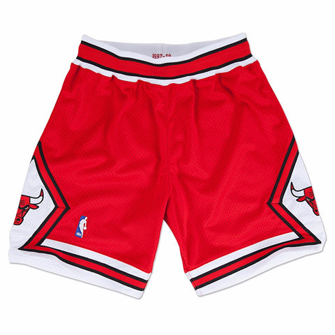 Chicago Bulls NBA Men's Mitchell & Ness 1997-98 Road Red Authentic Shorts