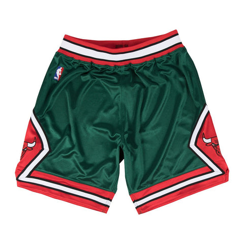"Chicago Bulls 2008-09 Mitchell & Ness Authentic ""Green Week"" HWC Shorts Men's"