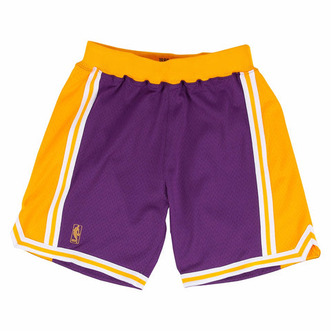 Los Angeles Lakers NBA Mitchell & Ness Purple 1996-97 Throwback Away Shorts