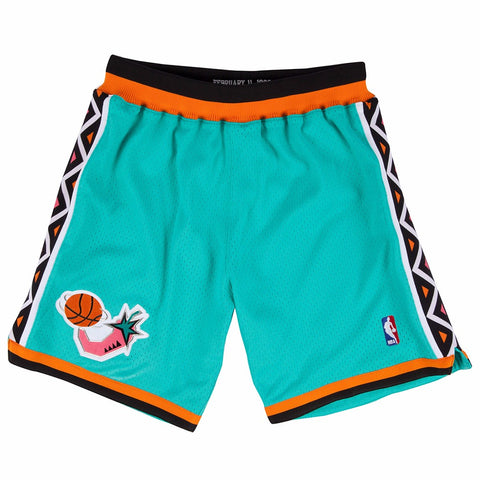 1996 NBA All Star East Authentic Mitchell & Ness Throwback Teal Shorts