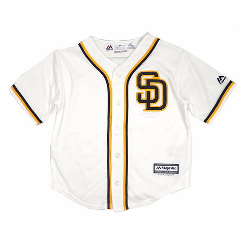 San Diego Padres MLB Majestic Boys' White Official Home Cool Base Jersey