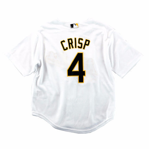 Coco Crisp Oakland Athletics MLB Majestic Boys' White Cool Base Home Jersey