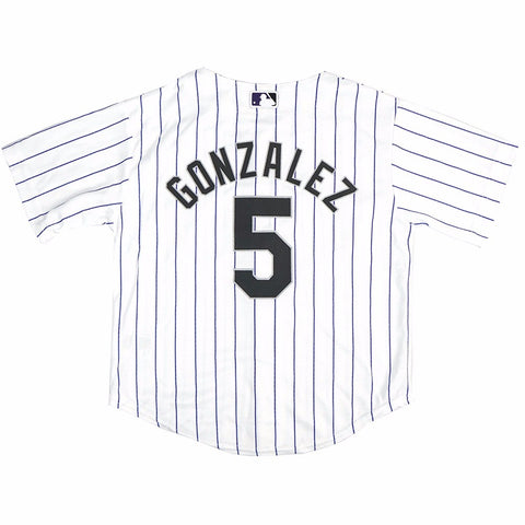 Carlos Gonzalez Colorado Rockies MLB Majestic Boys' White Home Cool Base Jersey