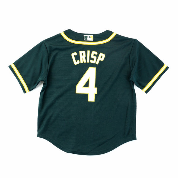 Coco Crisp Oakland Athletics MLB Majestic Boys' Green Cool Base Alternate Jersey