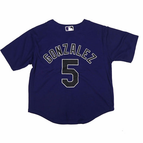 Carlos Gonzalez Colorado Rockies MLB Majestic Boys' Purple Alt Cool Base Jersey