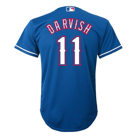 Yu Darvish MLB Majestic Texas Rangers Blue Cool Base Jersey Boys 4-7