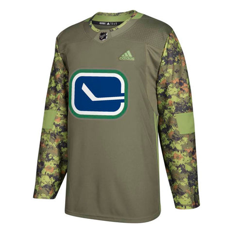 Vancouver Canucks NHL Camo 17-18 Authentic Armed Forces Camo Practice Jersey