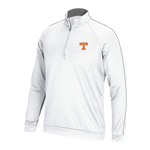 Tennessee Volunteers NCAA Adidas Men's TMAG Golf White 3-Stripes Piped Knit