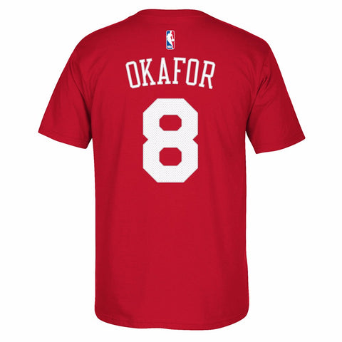Jahlil Okafor Philadelphia 76ers NBA Adidas Red Name & Number Jersey Shirt