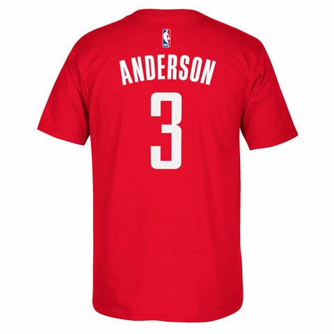 Ryan Anderson NBA Houston Rockets Men's Red Faux Stitch Name & Number T-Shirt