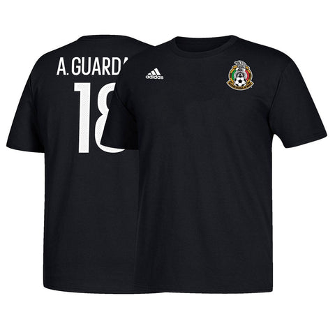 Andrés Guardado MLS Mexico Adidas Men's Black Name & Number Jersey T-Shirt