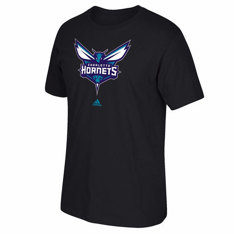 "Charlotte Hornets NBA Adidas Black Team ""Primary Logo"" Graphic T-Shirt"
