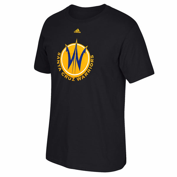 Santa Cruz Warriors NBA Adidas Black Primary Logo Short Sleeve T-Shirt