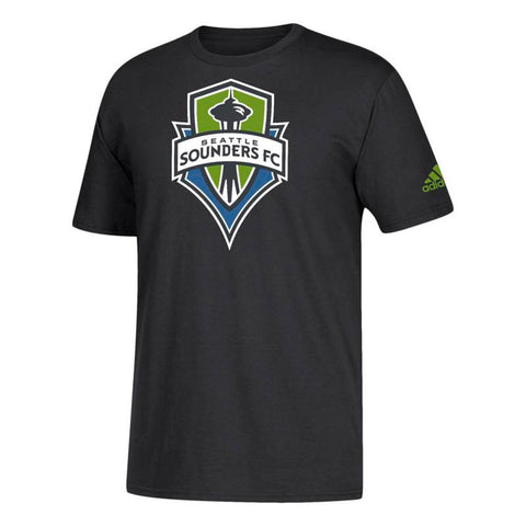 Seattle Sounders FC MLS Adidas Men's Squad Primary Team  Black T-Shirt