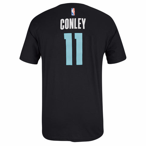 Mike Conley Memphis Grizzlies NBA Adidas Black Name & Num Faux Stitch T-Shirt