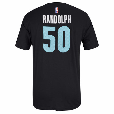 Zach Randolph Memphis Grizzlies NBA Adidas Black Name & Num Faux Stitch T-Shirt