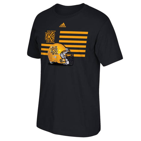 "Kennesaw State Owls NCAA Adidas ""Prevent Defense"" Football Helmt Black T-Shirt"