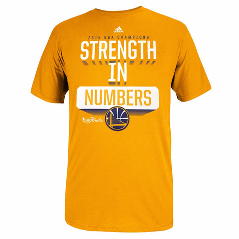"Golden State Warriors Adidas Men Gold ""Strength in Numbers"" NBA Finals T-Shirt"