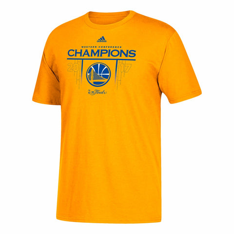 "Golden State Warriors Adidas Gold 2017 NBA Finals ""Court of Champions"" T-Shirt"