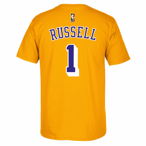 D'Angelo Russell Los Angeles Lakers NBA Adidas Gold HWC Retro Player T-Shirt