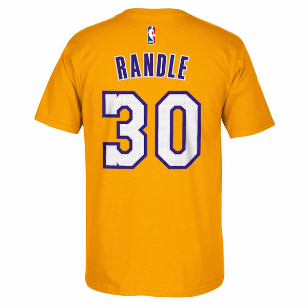 Julius Randle Los Angeles Lakers NBA Adidas Gold Name & Number Faux Stitch Shirt