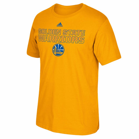 "Golden State Warriors NBA Adidas Gold ""Stretch Wordmark"" Graphic T-Shirt"