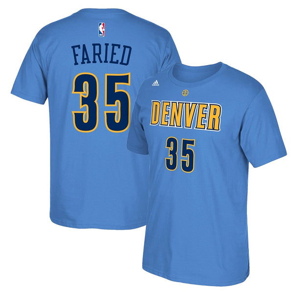 Kenneth Faried NBA Denver Nuggets Men's Light Blue Player Name & Number T-Shirt
