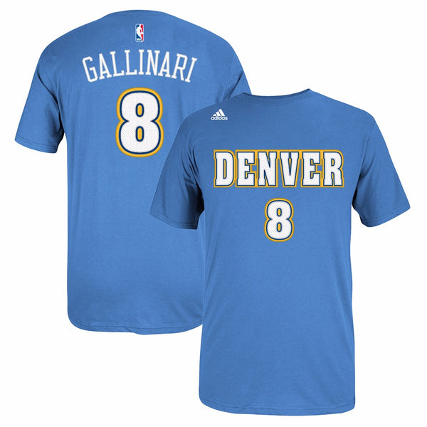 Danillo Gallinari Denver Nuggets NBA Adidas Light Blue Faux Stitch Player Shirt