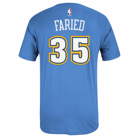 Kenneth Faried Denver Nuggets NBA Adidas Light Blue Faux Stitch Player Shirt