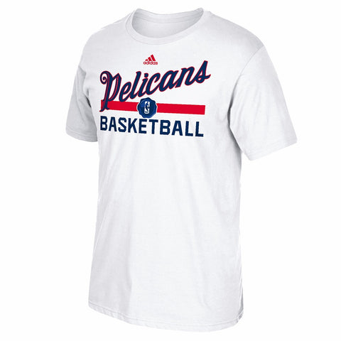 New Orleans Pelicans NBA Adidas White 2016 Christmas Day Practice T-Shirt