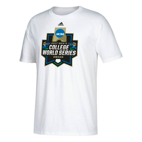 2017 College World Series NCAA Adidas Graphic Men's White T-Shirt