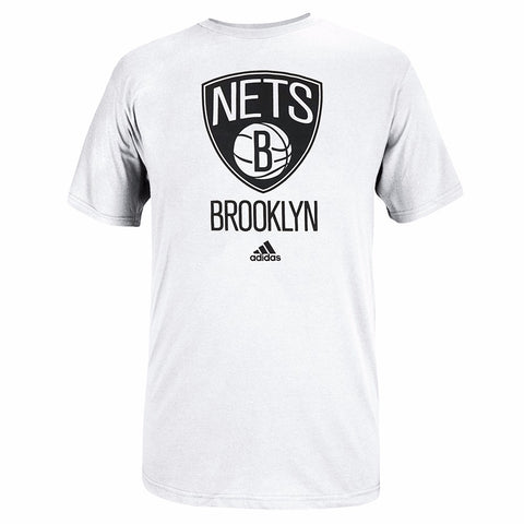Brooklyn Nets NBA Men's White Primary Team Logo Short Sleeve T-Shirt