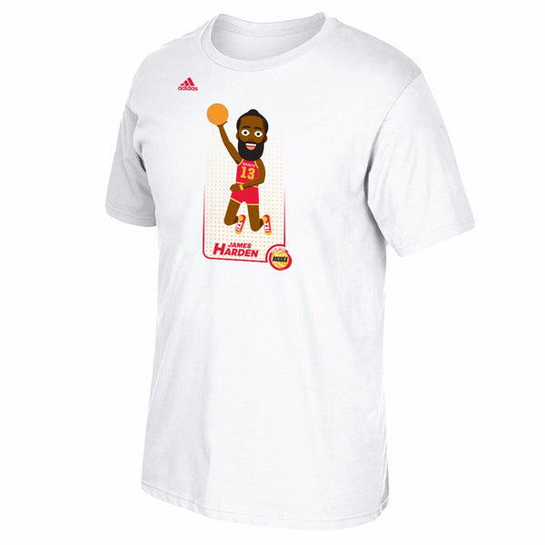 "James Harden Houston Rockets NBA Adidas White ""Adicon Dunk"" Player T-Shirt"