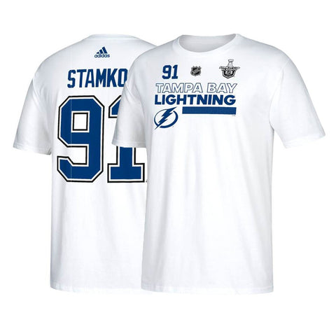 Steven Stamkos NHL Tampa Bay Lightning 2018 SC Playoffs Jersey White T-Shirt