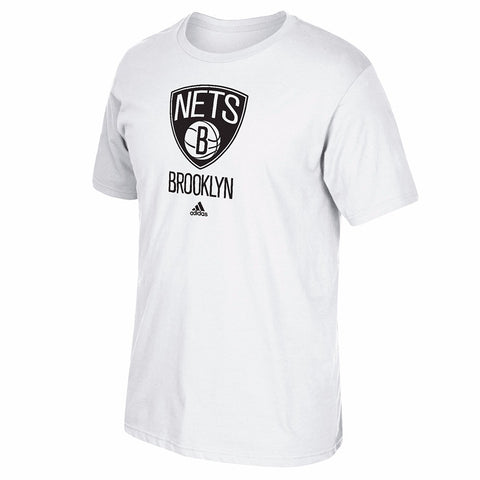 Brooklyn Nets NBA Adidas White Primary Logo T-Shirt