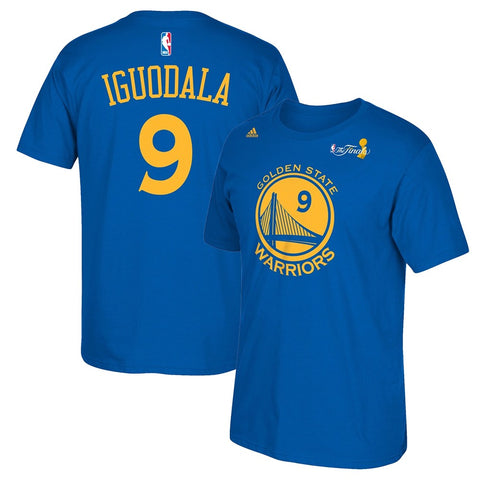 Andre Iguodala NBA Golden State Warriors Blue Name & Number T-Shirt