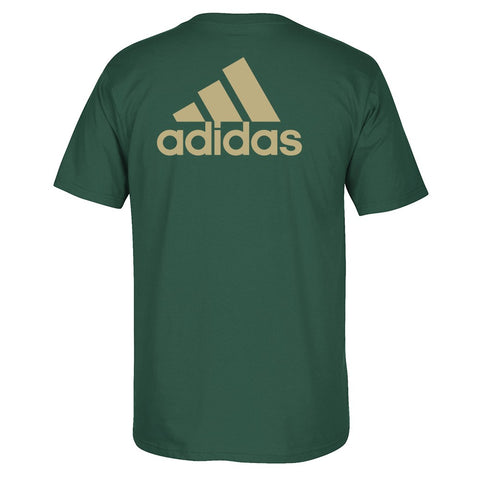 South Florida Bulls NCAA Adidas Primary School  Men's Green T-Shirt